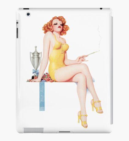 Tasty Pinups™ Vintage Red Head Smoking Hot iPad Case/Skin