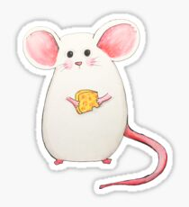 Mouse on Periwinkle Sticker
