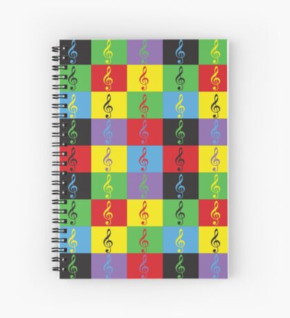 Pop Art Treble Clef Spiral Notebook