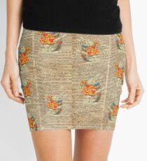White Rabbit with Trumpet,Alice in Wonderland,Vintage Dictionary Book Page Art Mini Skirt