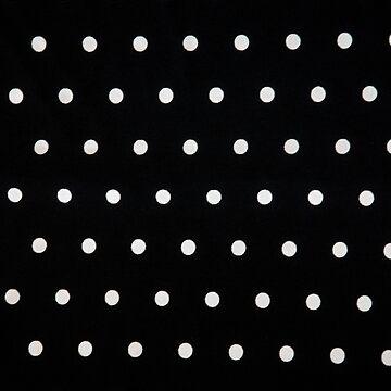 Classic Black & White Polka Dots by happywandererph