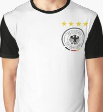 Germany Soccer European Football Crest Graphic T-Shirt