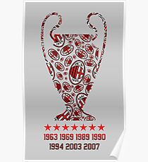 AC Milan - Champions Legaue Winners Poster