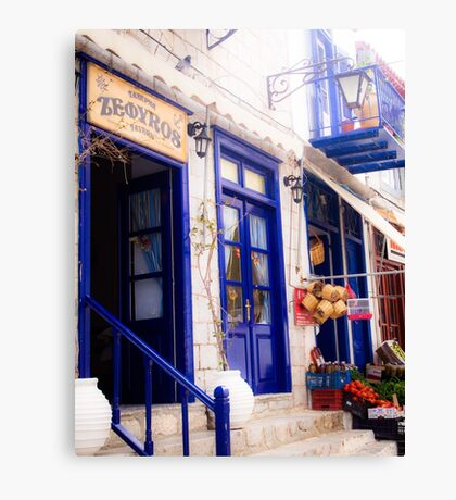 Vibrant blue in traditional Greek style Canvas Print
