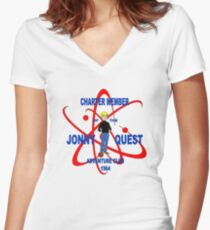 Jonny Quest Adventure Club 1964 Women's Fitted V-Neck T-Shirt