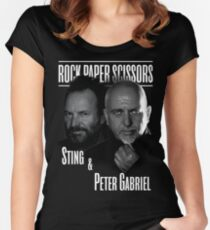 sting and peter gabriel style 2016 Women's Fitted Scoop T-Shirt