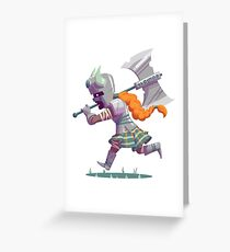 Daring Viking Greeting Card