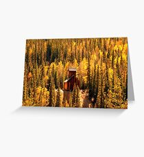 """Mining with Aspens"" Greeting Card"