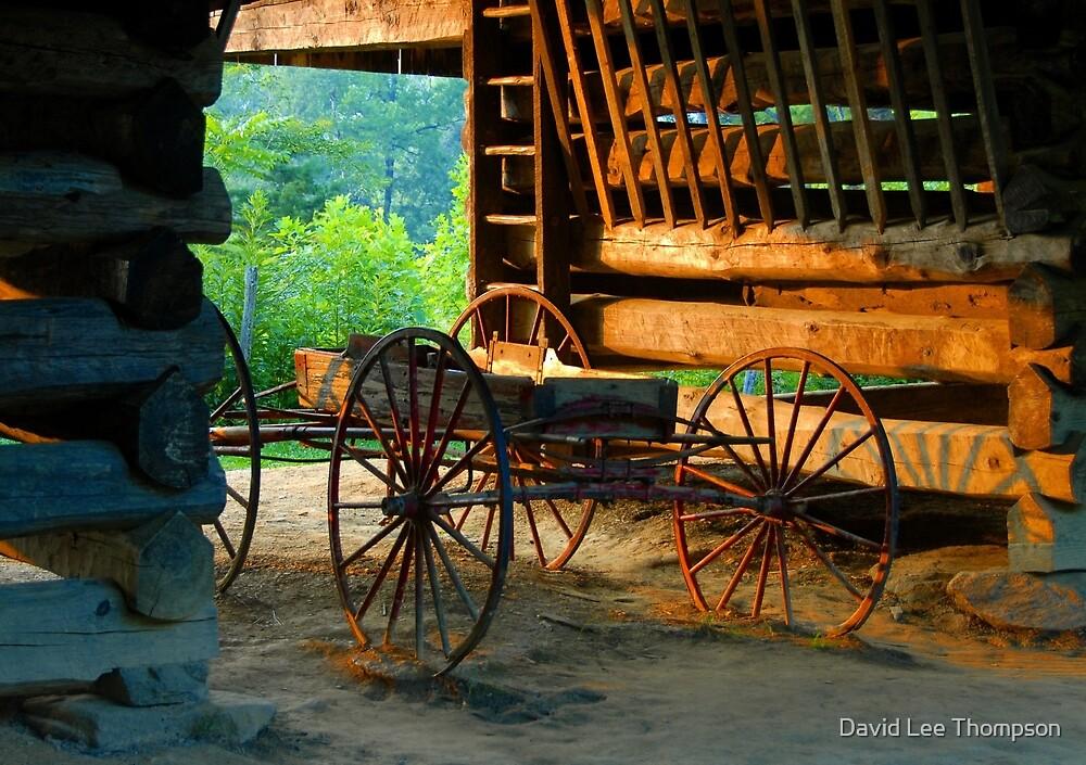Barn and Wagon by David Lee Thompson
