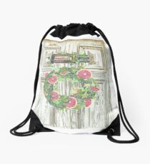 Essential Oils Grapefruit Wreath Drawstring Bag