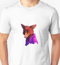Retro Purple/Blue Pyro Fox Unisex T-Shirt