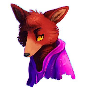 Retro Purple/Blue Pyro Fox by zfox