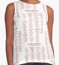 YOU=LOVE IN 80 LANGUAGES Contrast Tank