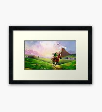 TLOZ Ocarina of Time - Hyrule Field Framed Print