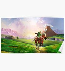 TLOZ Ocarina of Time - Hyrule Field Poster