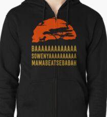 BAAAAAAAAAAAAA SOWENYAAAAAAAAAA MAMABEATSEBABAH African Lion T Shirt Zipped Hoodie