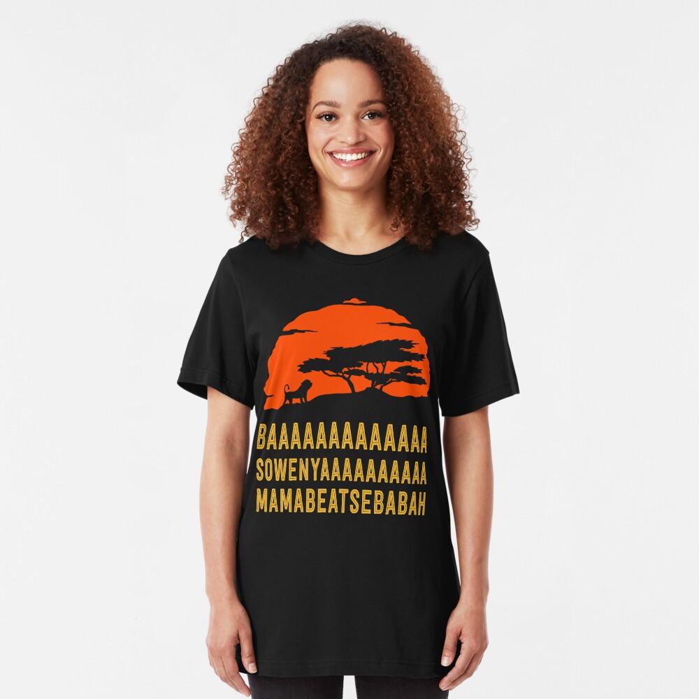 BAAAAAAAAAAAAA SOWENYAAAAAAAAAA MAMABEATSEBABAH Afrikanisches Löwe-T-Shirt Slim Fit T-Shirt
