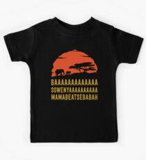 BAAAAAAAAAAAAA SOWENYAAAAAAAAAA MAMABEATSEBABAH African Sunrise Elephants Shirt Kids Tee