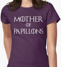 Mother of Papillons Dog T Shirt Women's Fitted T-Shirt