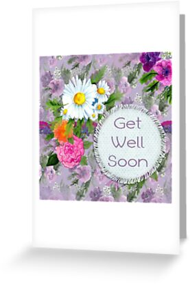 Get well soon greeting cards by catlady1961 redbubble get well soon by catlady1961 m4hsunfo