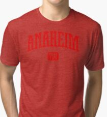 Anaheim 714 (Red Print) Tri-blend T-Shirt