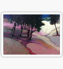 Landscape with trees Sticker