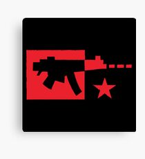 Red computer gamer digital machine gun Canvas Print