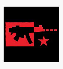 Red computer gamer digital machine gun Photographic Print