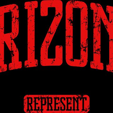 Arizona Represent (Red Print) by smashtransit
