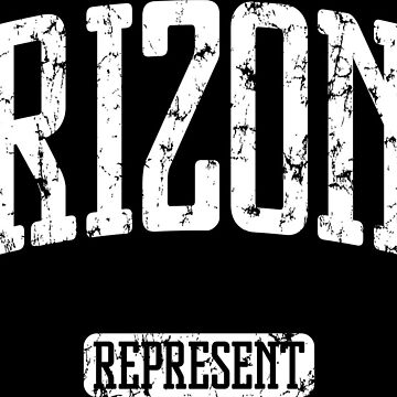 Arizona Represent (White Print) by smashtransit