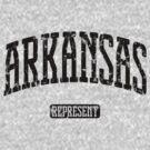 Arkansas Represent (Black Print) by smashtransit