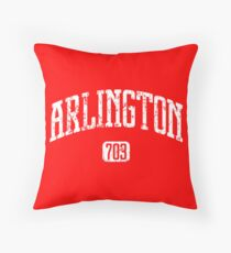 Arlington 703 (White Print) Throw Pillow