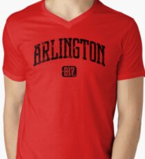 Arlington 817 (Black Print) Mens V-Neck T-Shirt