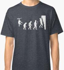 Funny Rock Climbing Evolution T Shirt Classic T-Shirt