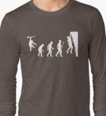 Funny Rock Climbing Evolution T Shirt Long Sleeve T-Shirt
