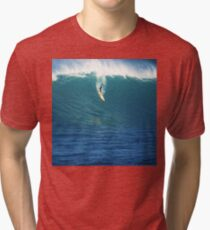 Crazy Day at Waimea Bay Tri-blend T-Shirt