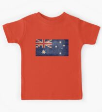 The National flag of Australia, retro textured version (authentic scale 1:2) Kids Clothes