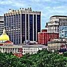 Boston MA - Skyline with Massachusetts State House by Susan Savad