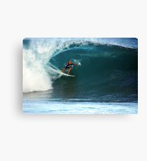 Kelly Slater at Pipeline Masters Canvas Print