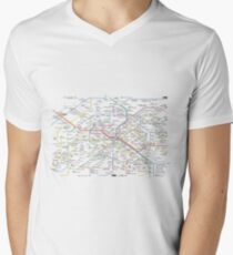 Paris Subway 2016 Men's V-Neck T-Shirt