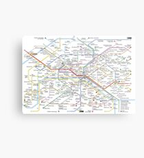 Paris Subway 2016 Metal Print