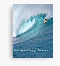 Waimea Bodyboarder T-Shirt Canvas Print