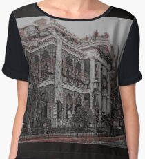 Haunted House Chiffon Top