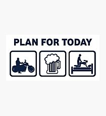 Funny Motorbike Plan For Today Photographic Print