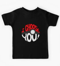 pokemon i choose you Kids Tee