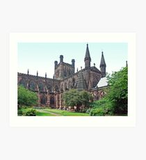 Chester cathedral Art Print