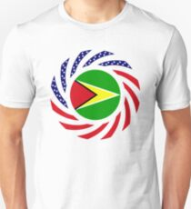 Guyanese American Multinational Patriot Flag  T-Shirt