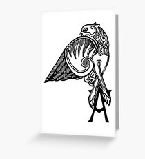 Buffy- angel's tattoo (black) Greeting Card