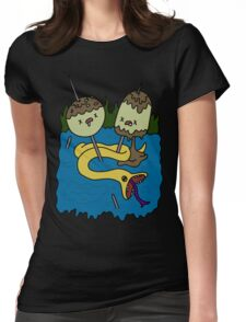 adventure time rock shirt Womens Fitted T-Shirt