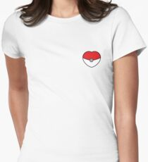 POKEBOLA HEART POKEMON GO Women's Fitted T-Shirt